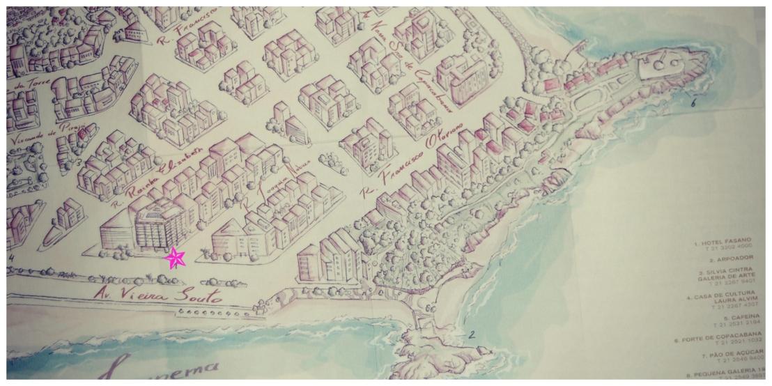 FASANO RIO DE JANEIRO MAP